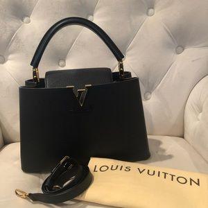 Louis Vuitton Capucines Noir PM